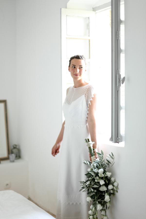 portrait marié fleurs