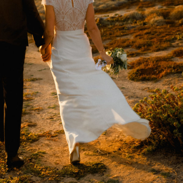 Caroline et Pierre Mariage au Rocher à Lumio en Corse