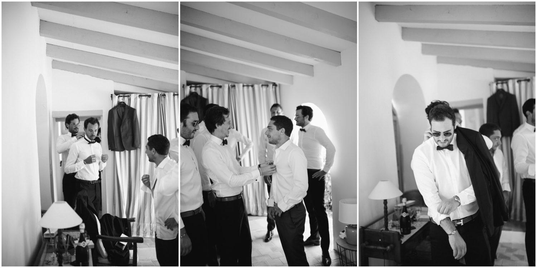 le marié pendant la préparation