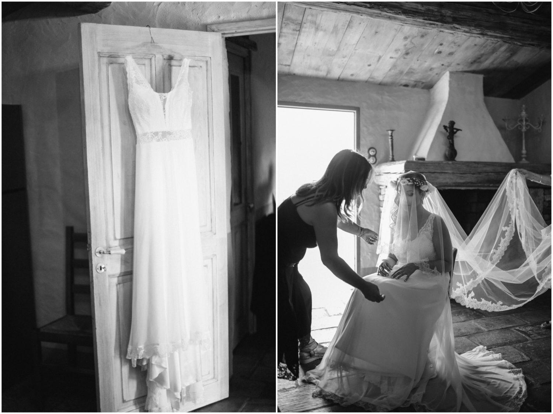 préparation de la marié corse
