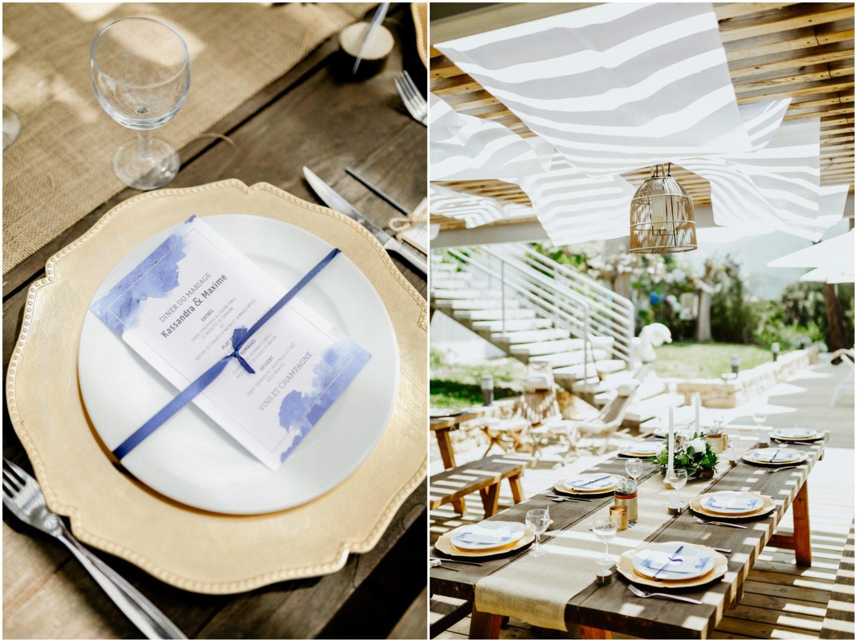 table mariage porticcio