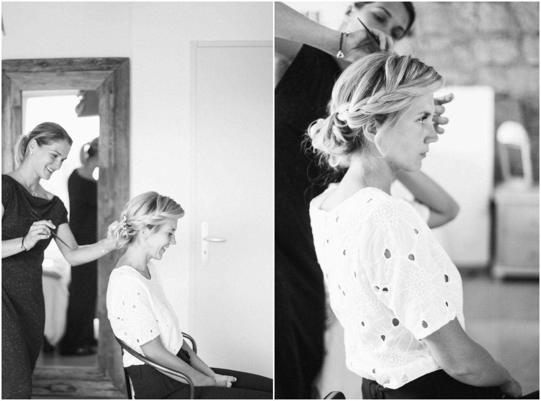 préparatifs coiffure mariage