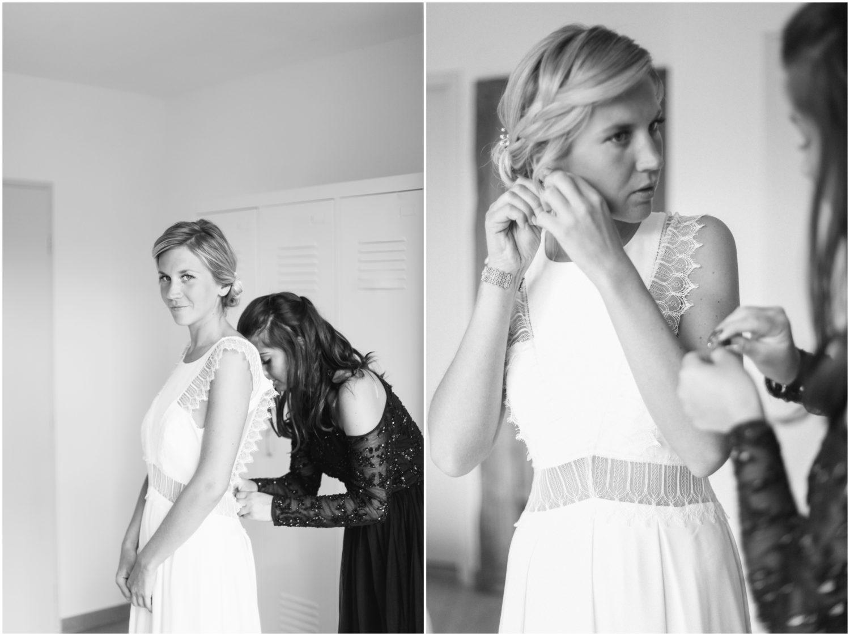 la marié pendant sa preparation